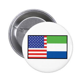 America Sierra Leone Pin