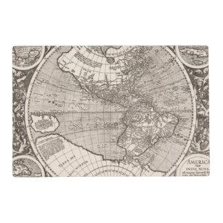 America sive India Novam, 1609 Placemat