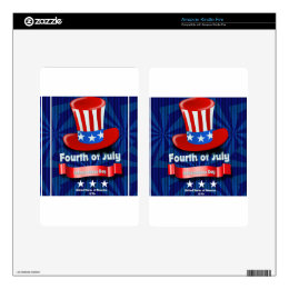 America Skin For Kindle Fire