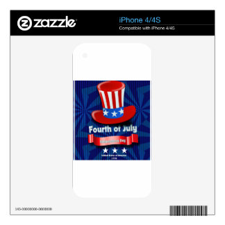 America Skins For iPhone 4
