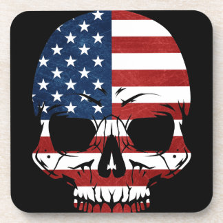 America Skull Flag Skeleton Evil Coaster