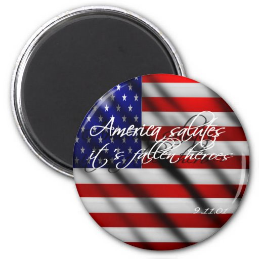 America Slautes Its Fallen 9/11 Heroes Magnet