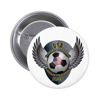 America Soccer Crest Button