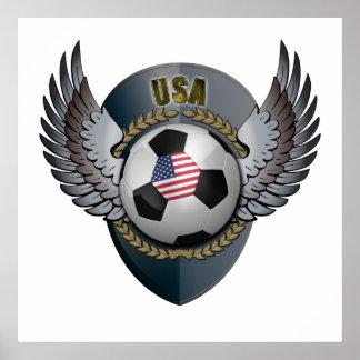 America Soccer Crest Poster