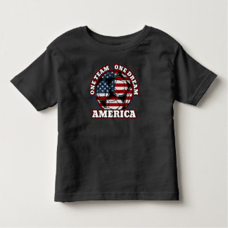 America Soccer One Team One Dream US Flag Toddler T-shirt