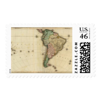 America south postage stamp