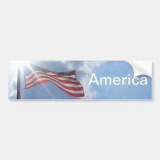 América - soy un americano pegatina para auto