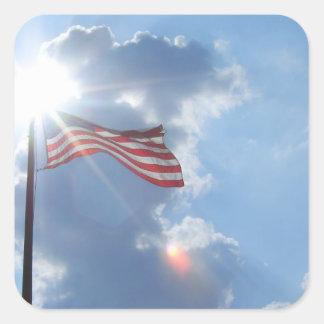 América - soy un americano colcomanias cuadradases
