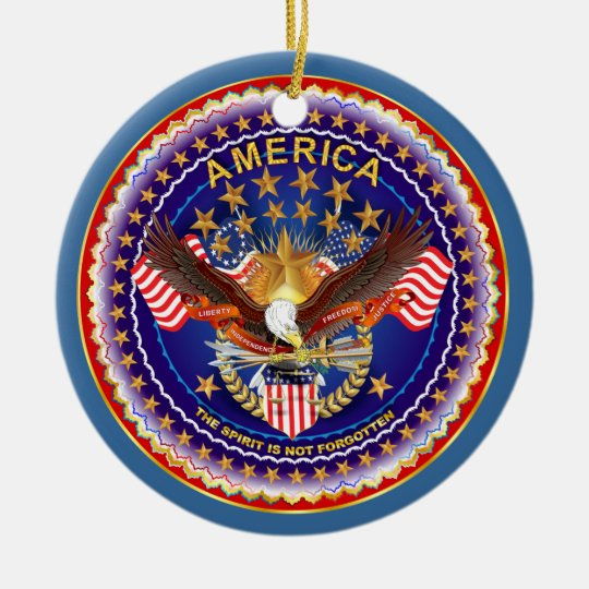 America Spirit Charm  Please See Notes Ceramic Ornament