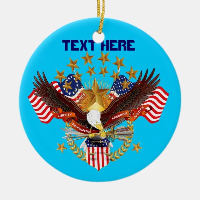 America Spirit Charm  Please See Notes Ceramic Ornament