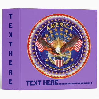 America Spirit Is Not Forgotten Please See Notes 3 Ring Binder