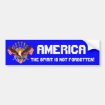 America Spirit Is Not Forgotten Please See Notes Car Bumper Sticker