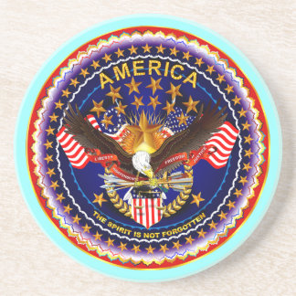 America Spirit Is Not Forgotten  Please See Notes Coaster