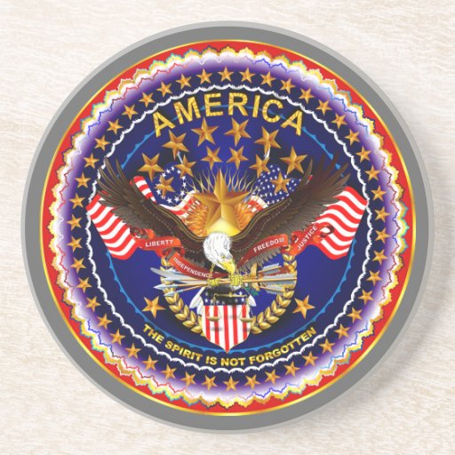 America Spirit Is Not Forgotten  Please See Notes Drink Coasters