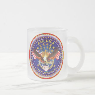 America Spirit Is Not Forgotten Please See Notes Frosted Glass Coffee Mug