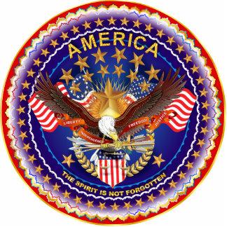 America Spirit Is Not Forgotten Sculpt. Key Chain Cutout