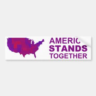 America Stands Together - Centrist / Moderate Gear Car Bumper Sticker