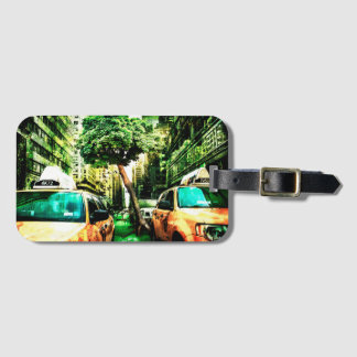America Style of Taxi Design Vintage Luggage Tag