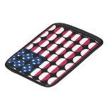 America Stylish Girly Chic Polka Dot American Flag Sleeves For iPads