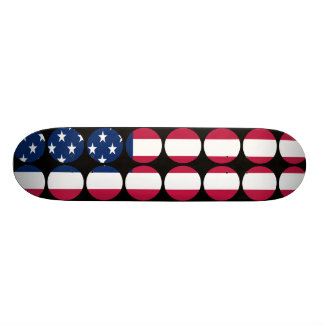 America Stylish Girly Chic Polka Dot American Flag Skateboard Deck