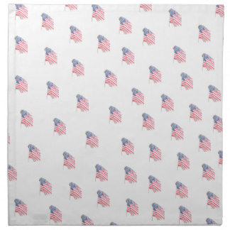 America Table Napkins with American Flag in Motion