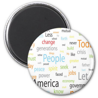 America Tags 2 Inch Round Magnet