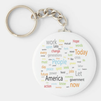 America Tags Basic Round Button Keychain