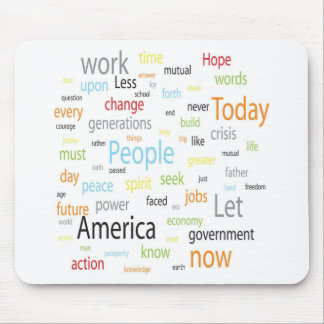 America Tags Mouse Pad