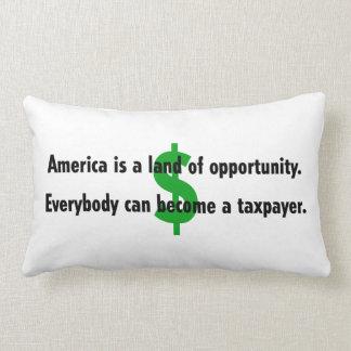 America Taxpayer Throw Pillow