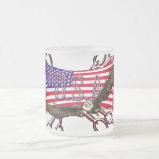 América Taza De Café Esmerilada