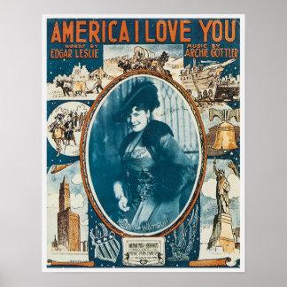América te amo póster