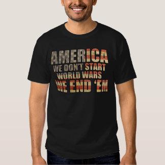 ¡América - terminamos guerras mundiales! Remeras