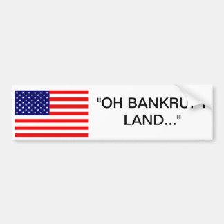 America The Bankrupt Bumper Sticker