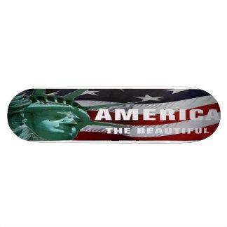 America the Beautiful and  Stars & Stripes Board Skateboard Deck