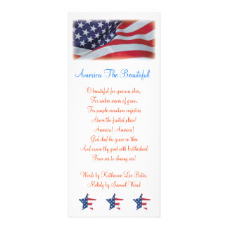 AMERICA THE BEAUTIFUL BOOKMARKS TEMPLATE RACK CARD