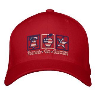 America the Beautiful Embroidered Baseball Cap