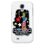 America The Beautiful Girl Statute of Liberty Galaxy S4 Covers