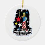 America The Beautiful Girl Statute of Liberty Ornament