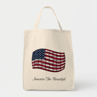 America The Beautiful Grocery Tote Grocery Tote Bag