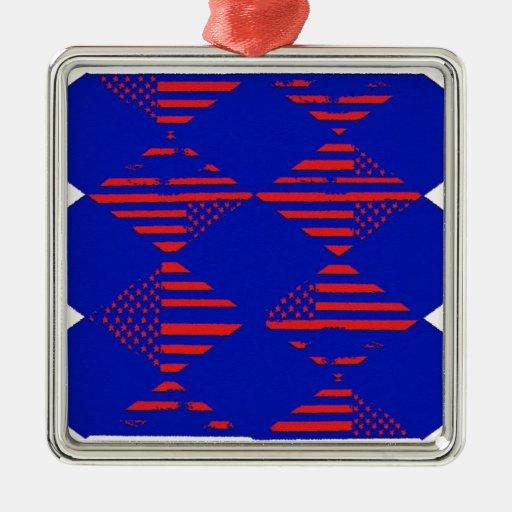 america the beautiful metal ornament