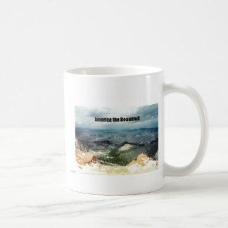 America the Beautiful Classic White Coffee Mug