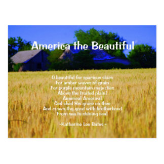 America the Beautiful Postcard