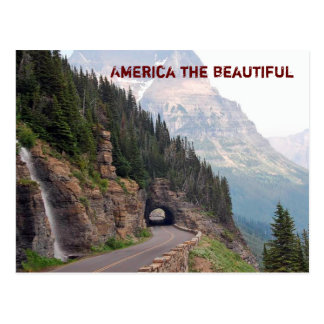 America the beautiful -postcard postcard
