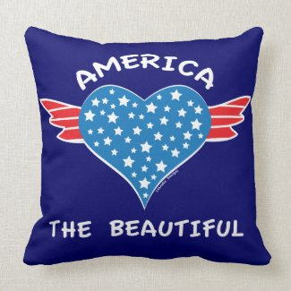America The Beautiful Throw Pillows