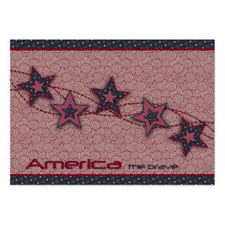 America the Brave Gift Tag Business Card