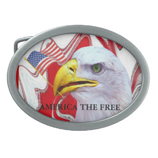 America The Free Belt Buckles