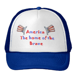 America The home of the brave Trucker Hat