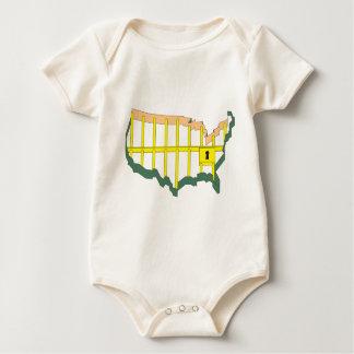 America the Prison Baby Bodysuits