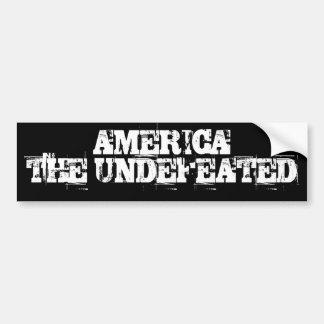 AMERICA   THE UNDEFEATED CAR BUMPER STICKER