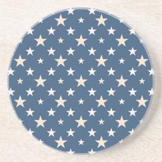 America themed stars pattern coaster